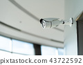 Security white CCTV camera 43722592