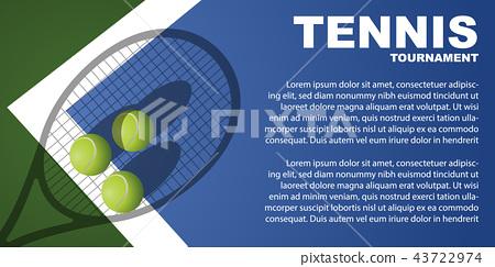 Tennis tournament poster design. Vector template 43722974