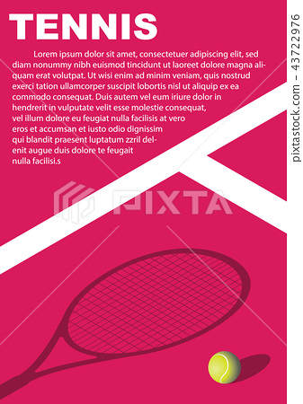 Tennis tournament poster design. Vector template 43722976