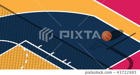 Design for basketball. Poster for the tournament.  43722985