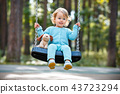 child, girl, swing 43723294