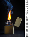 Golden Metal lighter and smoke 43723483
