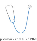Stethoscope isolated on white background. 43723969