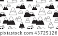 mountain seamless pattern vector snow mountain hil 43725126