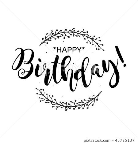 Happy Birthday Beautiful Greeting Card Poster 插圖素材