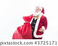 크리스마스 선물과 산타 클로스 크리스마스 이미지 이미지 소재 43725171