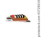 sushi, food, chopsticks 43726010
