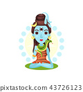 Shiva Indian god, the supreme god in Shaivism cartoon vector Illustration on a white background 43726123
