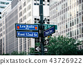 Lew Rudin Way road sign in Midtown of New York 43726922