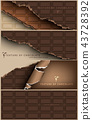 chocolate banner for facebook Poster vector Design 43728392