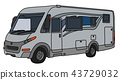 The silver motor home 43729032
