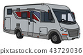 The silver motor home 43729036