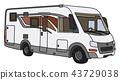 The white motor home 43729038