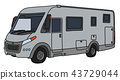 The silver motor home 43729044