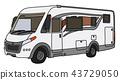 The white motor home 43729050