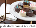 Artisan Fine Chocolate Candy On Serving Dish 43729944