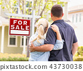 house, couple, sign 43730038