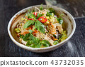 asian salad with noodles 43732035