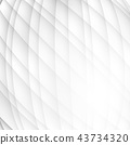 Vector gray and white color wave abstract 43734320