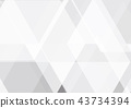 Vector gray and white color geometric abstract 43734394