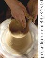 陶器 陶瓷艺术 辘轳 43734510