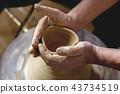 陶器 陶瓷艺术 辘轳 43734519