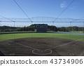 Baseball field Before the match Sky in September 43734906