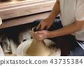 陶器 陶瓷艺术 辘轳 43735384