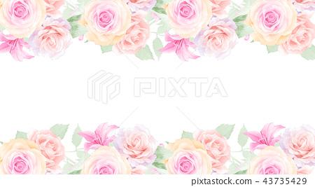 水彩玫瑰花花卉 43735429