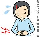 A stomachache girl 43736680