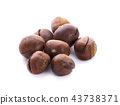 Chestnuts on white background. 43738371
