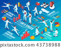 Isometric Fencing Infographic Background 43738988