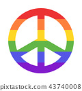 Rainbow peace sign 43740008