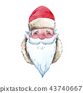 Watercolor santa claus illustration 43740667