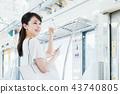 """女商人(手機 - 智能手機)攝影合作""""京王電鐵株式會社"""" 43740805"""