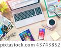 laptop tablet smartphone 43743852