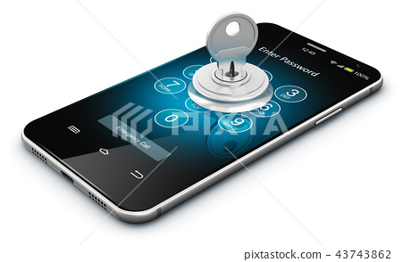 Smartphone or mobile phone security concept 43743862