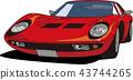 紅色跑車 43744265