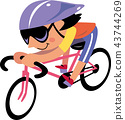 ผู้หญิงขี่จักรยานถนน 43744269