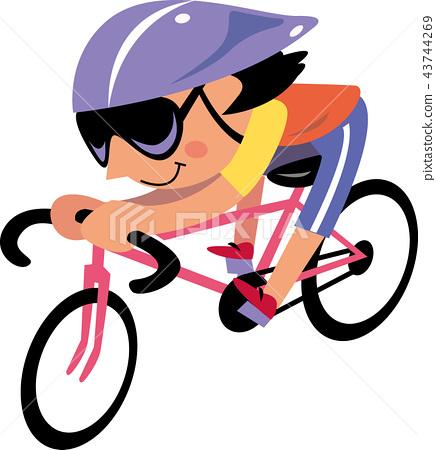 자전거를 타는 여성 43744269