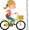 자전거를 타는 여성 43744272