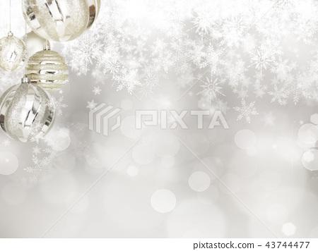 背景 - 雪 - 聖誕節 - 銀 - 金蔥 43744477