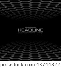 Black hexagons abstract technology background 43744822