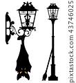 halloween city streetlight with evil bat 43746025