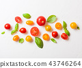 Organic Mini Tomatoes with basil and pepper 43746264