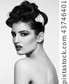Beautiful model wearing hair wedding accessories 43746401