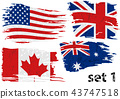 Torn Flag USA, Great Britain, Canada and Australia 43747518