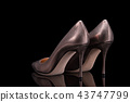 Bronze high-heeled shoes 43747799