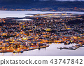 cityscape view of Tromso, Norway 43747842