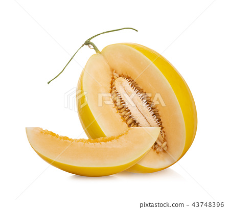 cantaloupe melon on white background 43748396